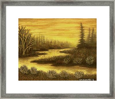 Golden River 01 Framed Print