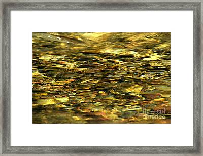 Golden River Rocks Framed Print by Adam Jewell