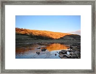 Golden River Framed Print by Nichola Denny