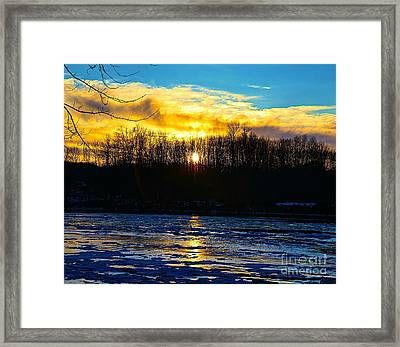 Golden Road Framed Print by Robert Pearson