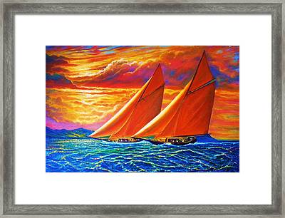 Golden Sails Framed Print