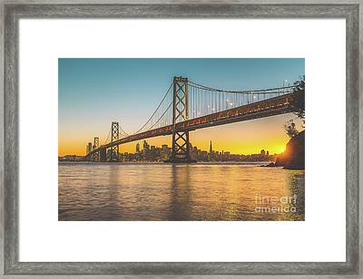 Golden San Francisco Framed Print by JR Photography