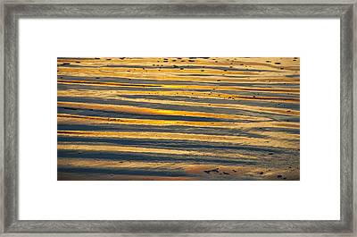 Golden Sand On Beach Framed Print