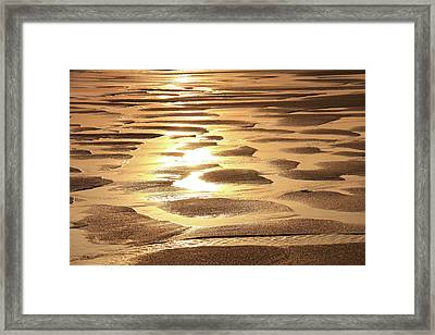 Framed Print featuring the photograph Golden Sands by Roupen  Baker
