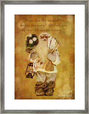 Golden Santa Card 2015 Framed Print