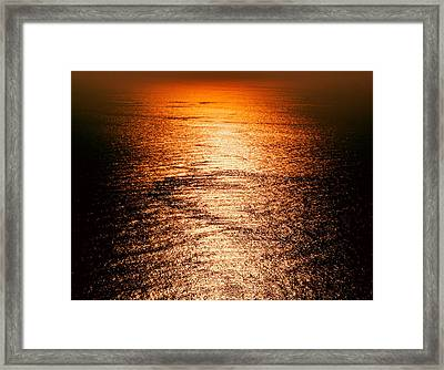 Golden Sea In Alanya Framed Print