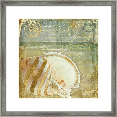 Golden Sea Three Framed Print by Mindy Sommers