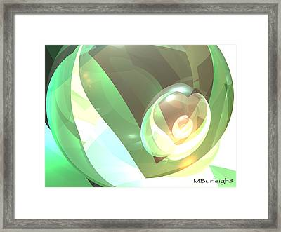 Golden Seed Framed Print by Michael Burleigh