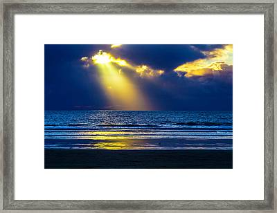Golden Shaft Of Light Framed Print by Garry Gay