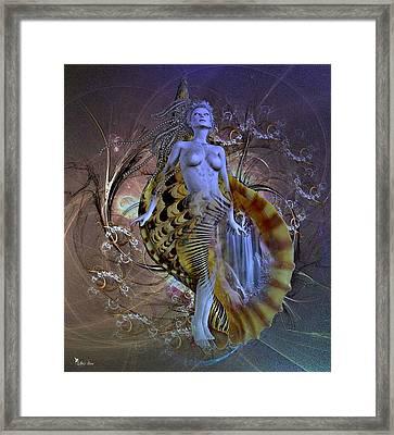 Golden Shell Serpent 2 Framed Print
