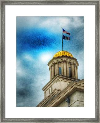 Golden Shine Framed Print