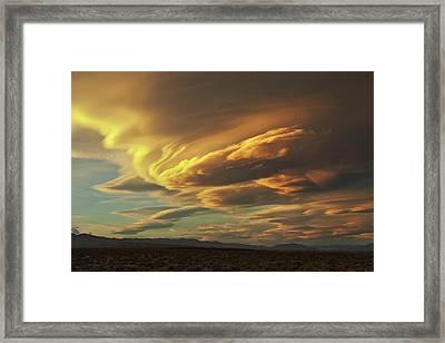 Golden Sierra Wave Framed Print by Nolan Nitschke