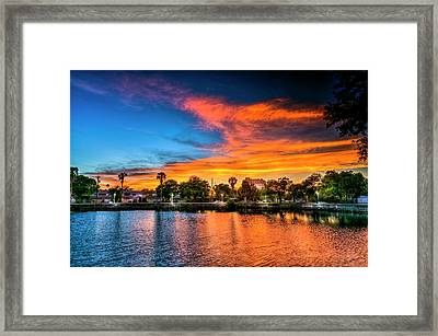 Golden Sky Over Davis Island Framed Print by Marvin Spates