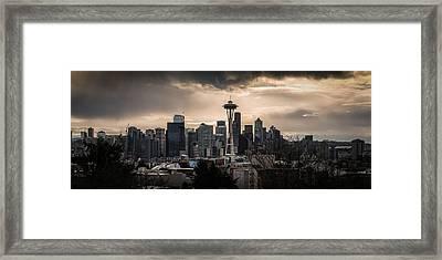 Golden Sky Seattle Framed Print by Chris McKenna