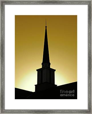Framed Print featuring the photograph Golden Sky Steeple by CML Brown