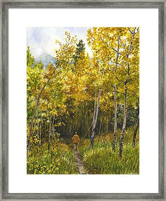 Golden Solitude Framed Print