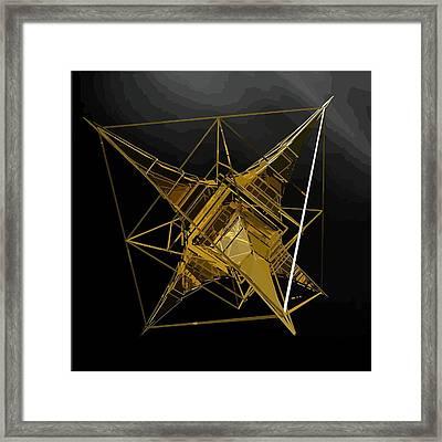 Golden Space Craft Framed Print