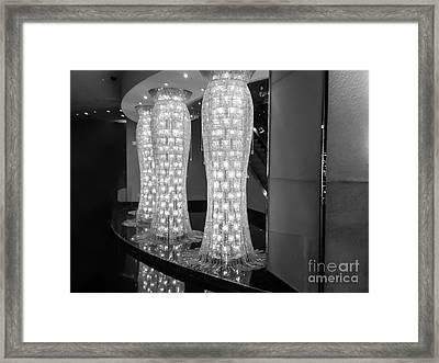 Golden Sparks - Monochrome Framed Print