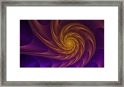 Golden Spiral Framed Print