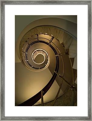 Golden Spiral Staircase Framed Print