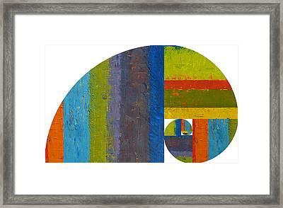 Golden Spiral Study Framed Print by Michelle Calkins