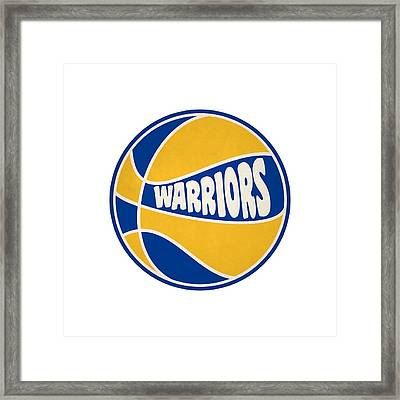 Golden State Warriors Retro Shirt Framed Print