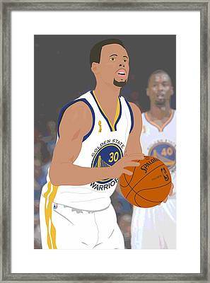 Golden State Warriors - Stephen Curry - 2015 Framed Print by Troy Arthur Graphics