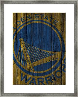 Golden State Warriors Wood Fence Framed Print