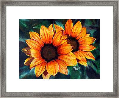 Golden Sun Framed Print by Laura Bell