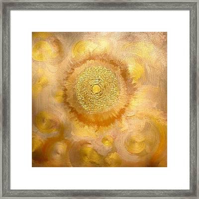 Golden-sun Framed Print by Ramon Labusch