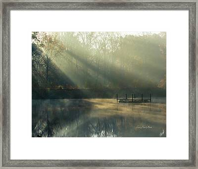 Golden Sun Rays Framed Print by George Randy Bass
