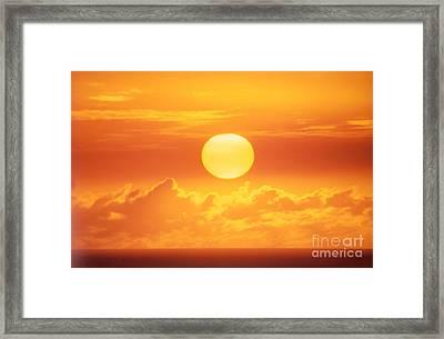 Golden Sunball Framed Print by Bob Abraham - Printscapes