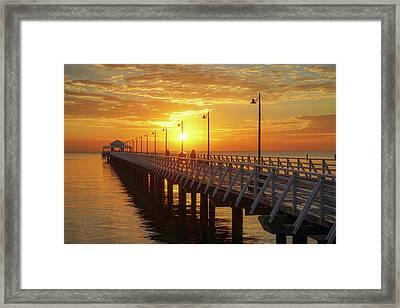 Golden Sunrise Down By The Bay Framed Print