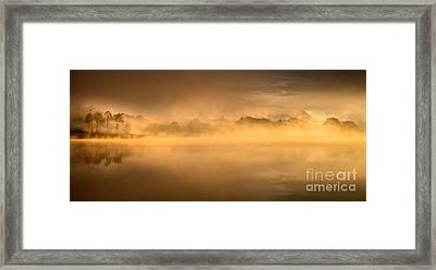 Golden Sunrise Loch Ard Framed Print by Richard Burdon