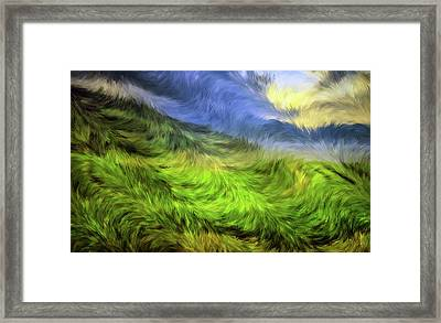 Golden Sunrise Summer Abstract Framed Print