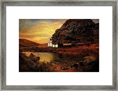 Golden Sunset At Lake.  Rural Ireland Framed Print