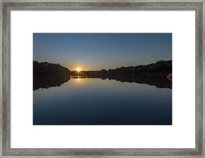 Framed Print featuring the photograph Golden Sunset by Charles Kraus