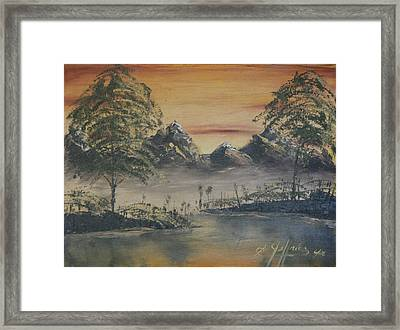 Golden Sunset Framed Print by Gregory Jeffries