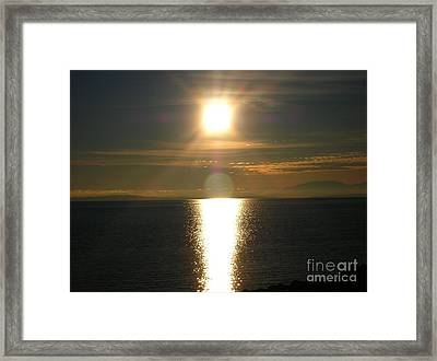 Framed Print featuring the photograph Golden Sunset by Kim Prowse