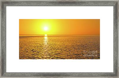 Golden Sunset On The Gulf Of Mexico Framed Print by ELITE IMAGE photography By Chad McDermott