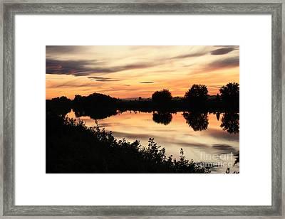 Golden Sunset Reflection Framed Print