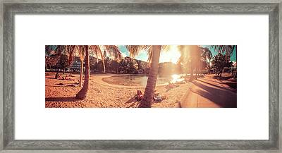 Golden Sunsets Of Airlie Beach Framed Print
