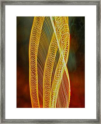 Golden Swirl Abstract Framed Print