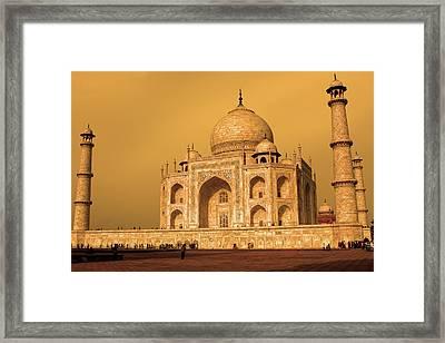Golden Taj Mahal  Framed Print by Aidan Moran