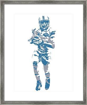 Golden Tate Detroit Lions Pixel Art 4 Framed Print
