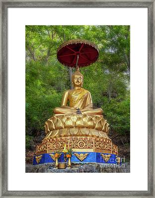 Golden Thai Buddha Framed Print by Adrian Evans