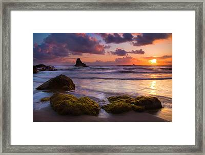 Golden Tides Framed Print