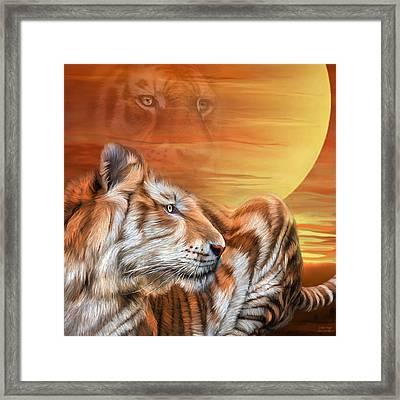 Golden Tiger Framed Print by Carol Cavalaris