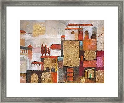 Golden Town Framed Print by Lutz Baar