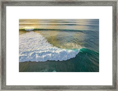 Golden Trails Framed Print